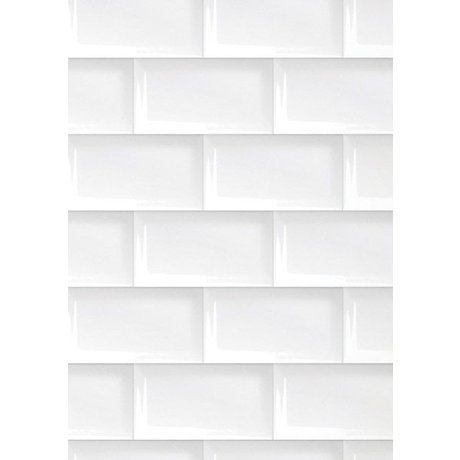 Kek Amsterdam 089 kiremit duvar kağıdı, beyaz, 8.3mx 47.5 cm