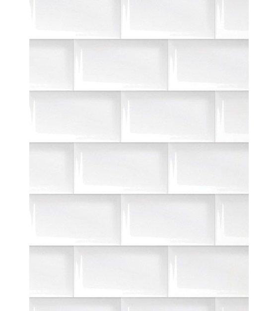 Kek amsterdam 089 tiles wallpaper white 47 5 cm for White tile wallpaper
