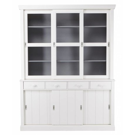 LEF collections LAGOS mueble buffet de madera de pino, blanco, 215x166x48 cm