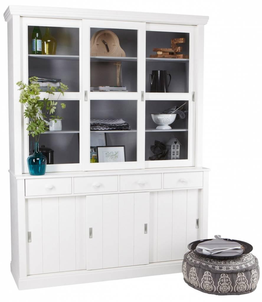 LAGOS mueble buffet de madera de pino, blanco, 215x166x48 cm ...