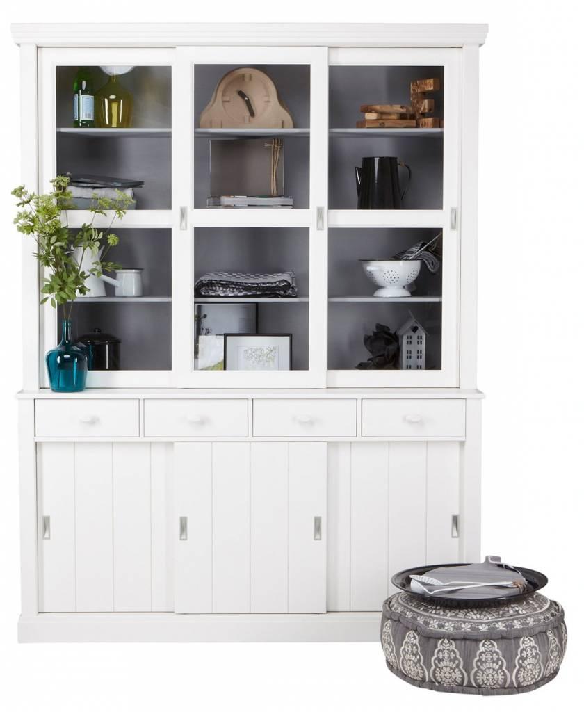 buffetschrank lagos aus kiefer wei 215x166x48 cm. Black Bedroom Furniture Sets. Home Design Ideas