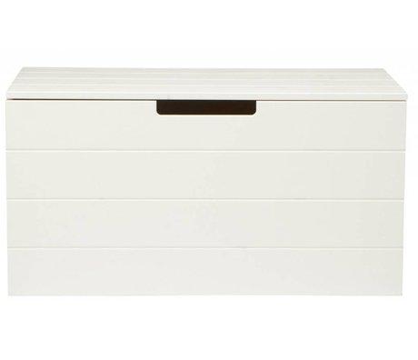 LEF collections Aufbewahrungsbox aus Kiefer, weiß, 42X80X42cm