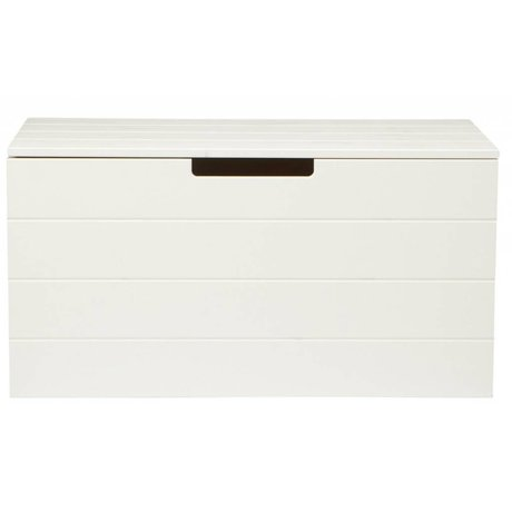 LEF collections Storage box made of pine, white, 42X80X42cm