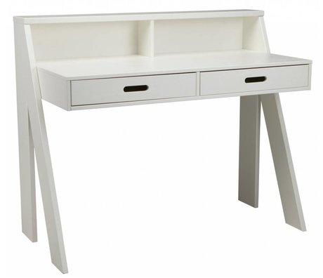 LEF collections MAX bureau en bois de pin, blanc, 112x55x93cm