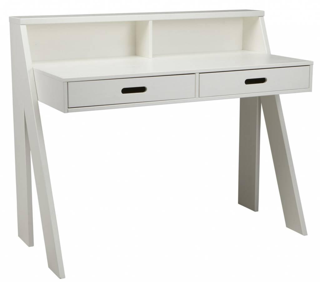 Lef collections max escritorio de madera de pino blanco - Escritorio de pino ...