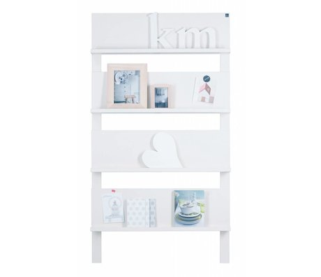 LEF collections Çam, beyaz, 178X80X11cm 101 Duvar sehpa