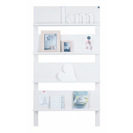 LEF collections 101 Wall stillage from pine, white, 178X80X11cm
