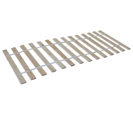 LEF collections Slatted wood, natural, 90x200cm