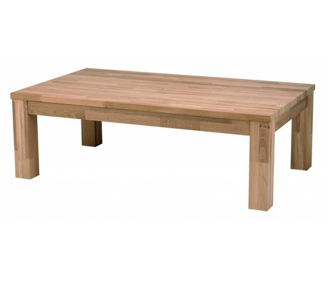 LEF collections Mesa de centro de madera de roble LARGO, marrón, 180x85x40cm