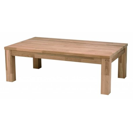 LEF collections LARGO coffee table made of oak, brown, 180x85x40cm