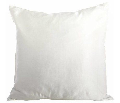 Housedoctor Cushion cover from silk / linen / cotton, cream / gray, 50x50cm
