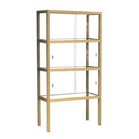 HK-living Display cabinet glass / wood, 75x36x148cm