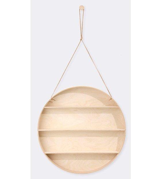 ferm living wandschrank aus sperrholz mit lederschleife natur 55cm. Black Bedroom Furniture Sets. Home Design Ideas
