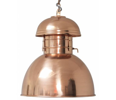 "HK-living Industrial hanging lamp ""Warehouse"" L, copper, metal, Ø42cm"