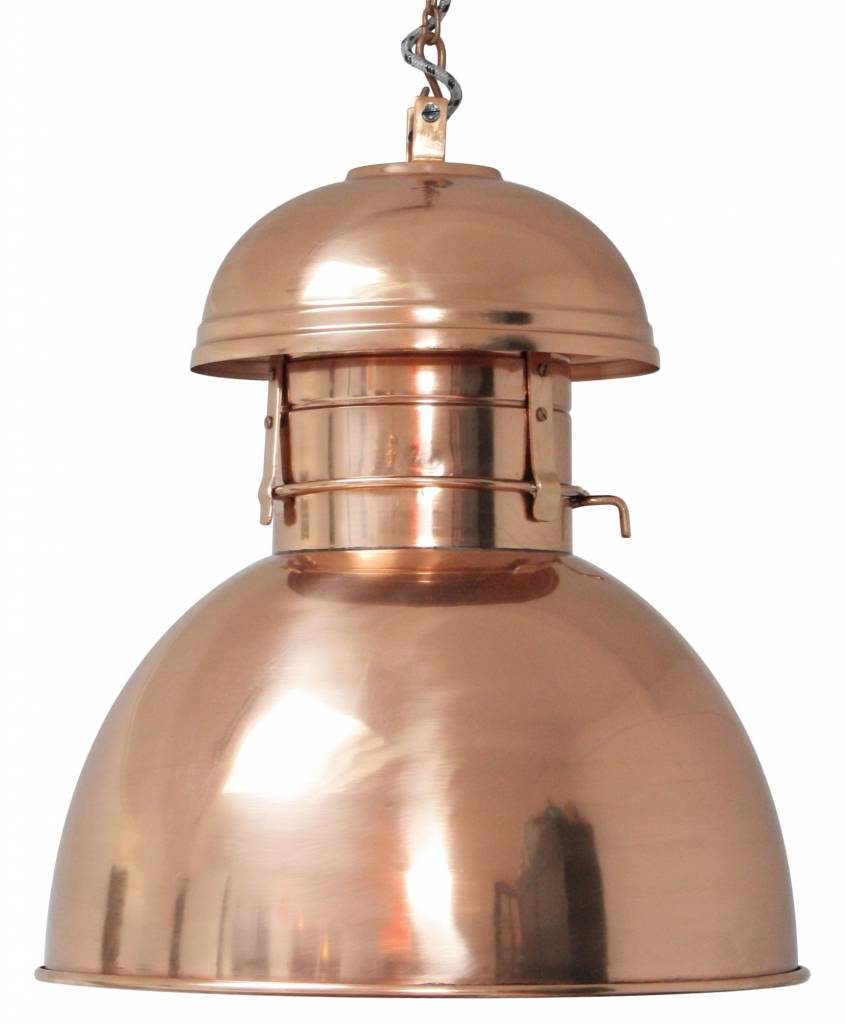 hk living industrial hanging lamp warehouse l copper metal 42cm. Black Bedroom Furniture Sets. Home Design Ideas