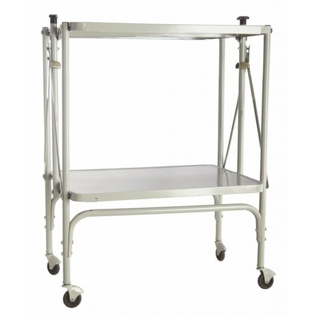 Housedoctor Trolley 'fix' of metal, foldable, light gray, 40x53.5x75cm