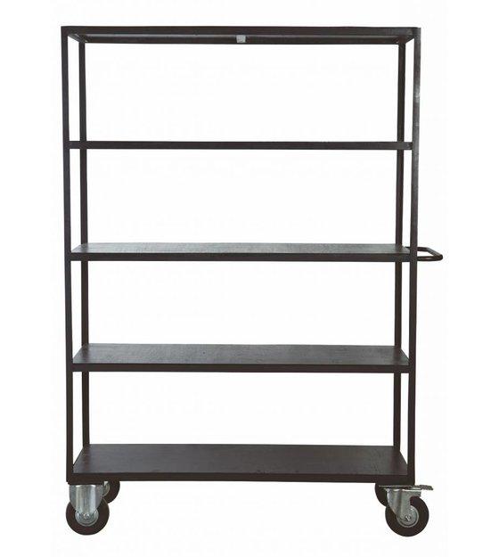 Kücheninsel Auf Räder ~ housedoctor aufbewahrungsmöbel auf räder aus metall holz, schwarz, 130x40x175 cm lefliving de