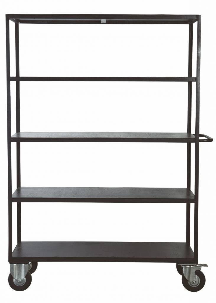 Housedoctor Muebles de almacenaje con ruedas de metal / madera ...