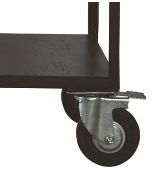 Housedoctor Storage furniture on wheels made of metal  wood