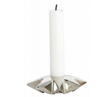 Housedoctor Candelabros 'Star' de aluminio, plata, Ø9.5xh2.5 cm