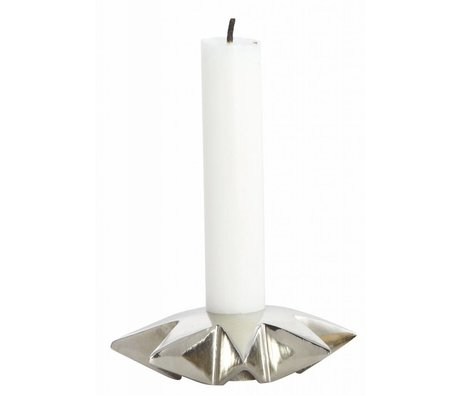 Housedoctor Candelieri 'Star' di alluminio, argento, Ø9.5xh2.5 cm