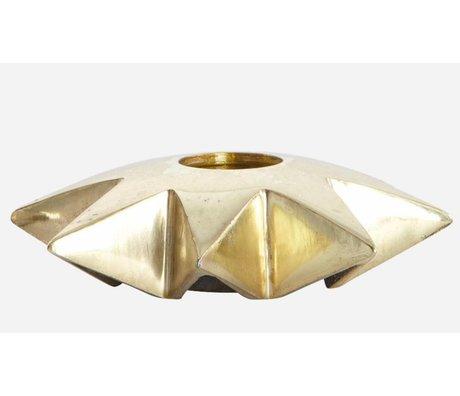 Housedoctor Lysestager 'Star' af aluminium, kobber, Ø9.5xh2.5 cm
