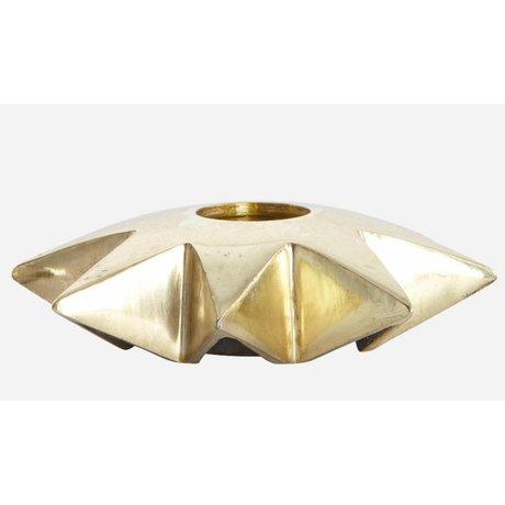 Housedoctor Alüminyum, bakır, Ø9.5xh2.5 cm şamdanlar 'Yıldız'
