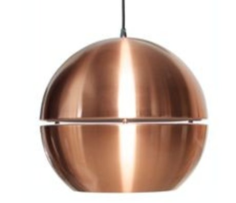 Zuiver Hanging lamp 'Retro 70' of metal, copper, Ø40x37cm