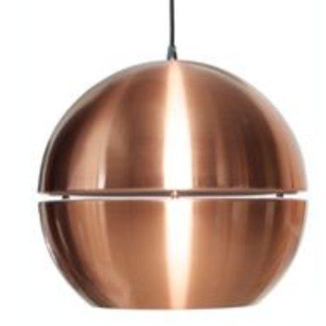 """Zuiver Lámpara colgante 'Retro 70 """"de metal, cobre, Ø40x37cm"""
