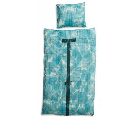 Snurk Beddengoed Bettwäsche 'Pool' aus Baumwolle, blau, in 3 Größen