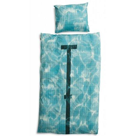 Snurk Beddengoed Pamuk keten 'havuz', 3 boyutta, mavi kullanılabilir