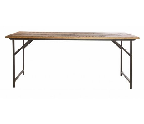 Housedoctor Spisebord »part« af metal / træ, grå / brun, 180x80x74 cm