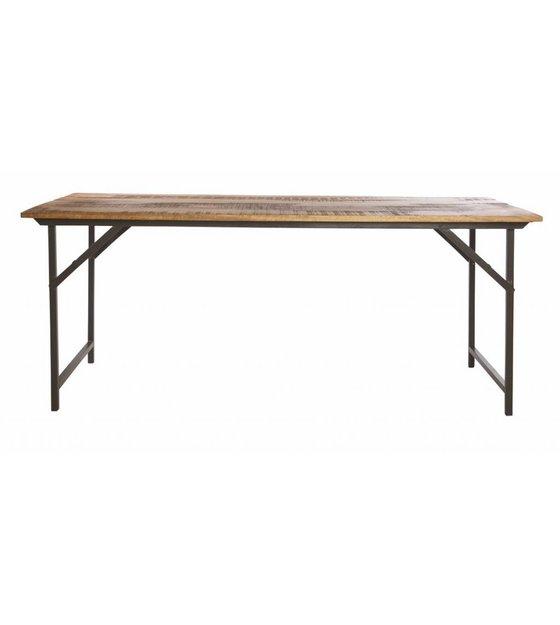 Housedoctor Tavolo da pranzo \'partito\' di metallo / legno, grigio ...