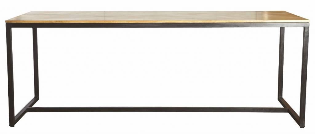 Housedoctor tavolo da pranzo 39 forma 39 di ferro legno nero marrone 200x80x74cm - Tavolo legno ferro ...