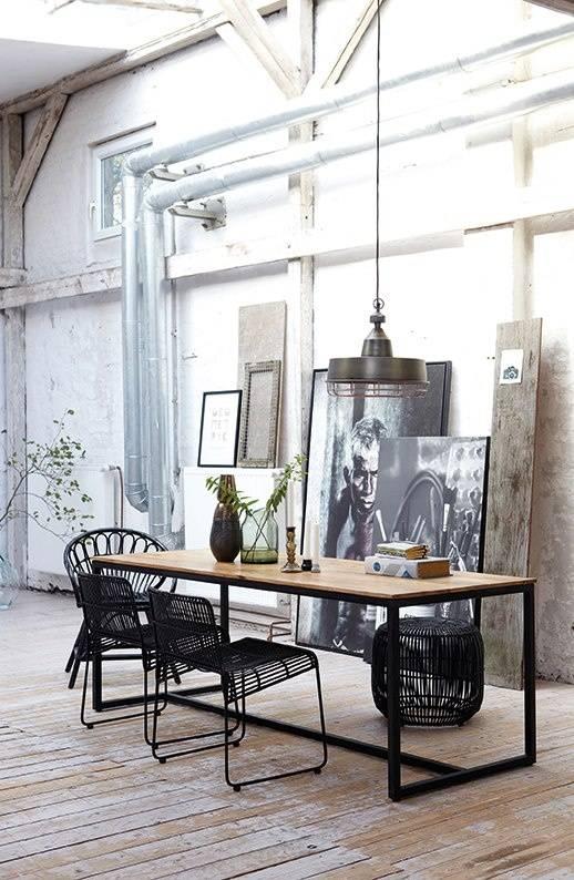 Housedoctor Spisebord 'form «af jern / træ, sort / brun ...