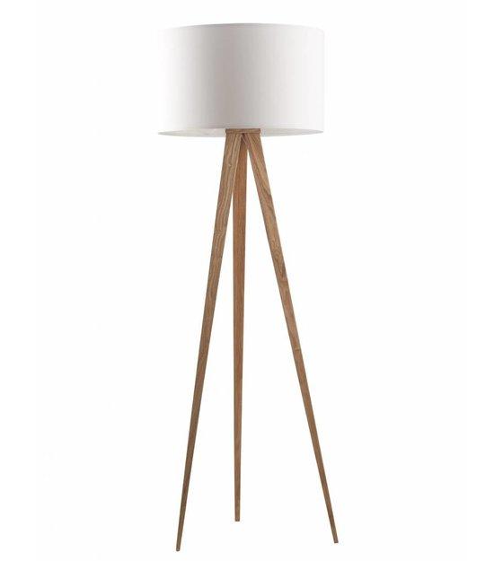 zuiver lampe sur pied tr pied de bois naturel blanc 151x50cm. Black Bedroom Furniture Sets. Home Design Ideas