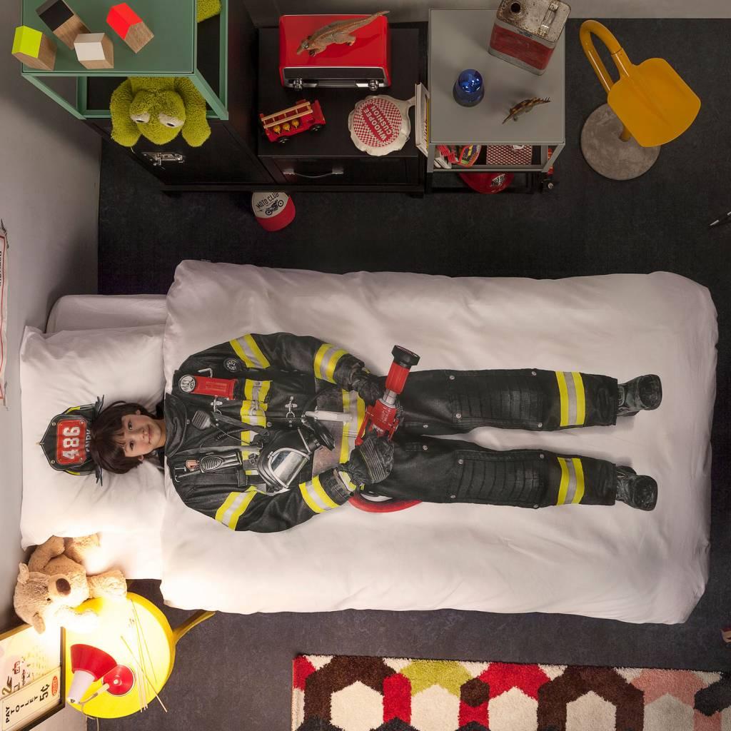 Snurk Ropa de \'bombero\' de algodón, blanco / multicolor, 140x200 cm ...