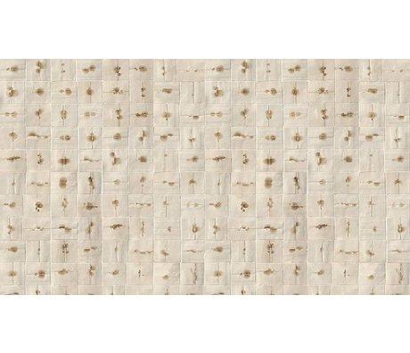 """NLXL-Arthur Slenk Wallpaper """"Remixed 6 'de papier, crème / marron, 900x48.7cm"""