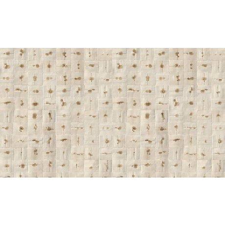 NLXL-Arthur Slenk Sfondi desktop 'Remixed 6' di carta, crema / marrone, 900x48.7cm