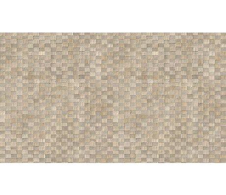 """NLXL-Arthur Slenk Wallpaper """"Remixed 5 'du papier, de la crème / noir, 900x48.7cm"""