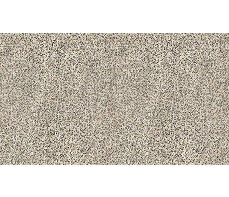 """NLXL-Arthur Slenk Wallpaper """"Remixed 4 'de papier, crème / noir, 900x48.7cm"""