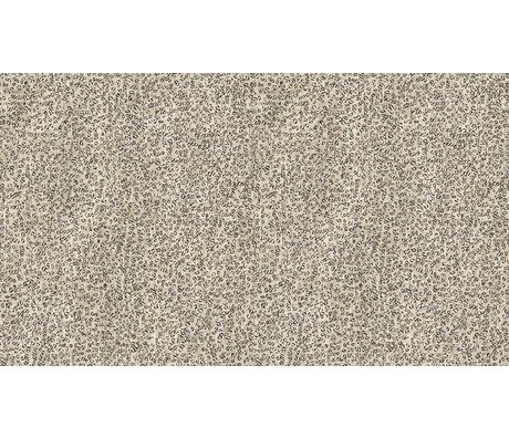 NLXL-Arthur Slenk Wallpaper 'Remixed 4' papir, creme / sort, 900x48.7cm