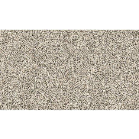 NLXL-Arthur Slenk Wallpaper 'Remixed 4' di carta, crema / nero, 900x48.7cm