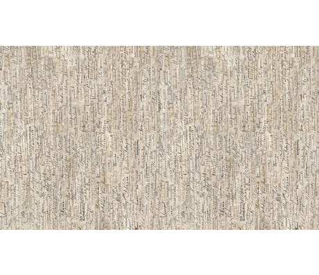 NLXL-Arthur Slenk Wallpaper 'Remixed 3' di carta, crema / nero, 900x48.7cm