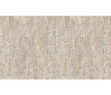 """NLXL-Arthur Slenk Wallpaper """"Remixed 3 'du papier, de la crème / noir, 900x48.7cm"""