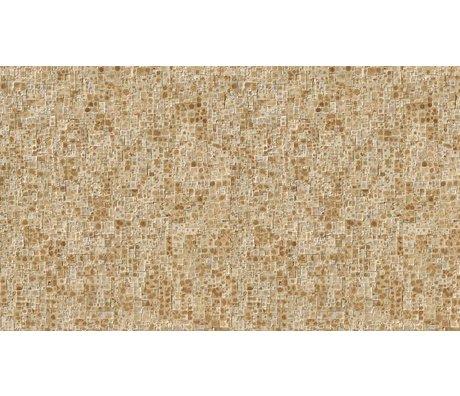 NLXL-Arthur Slenk Wallpaper 'Remixed 2' kağıt, krem / kahverengi, 900x48.7cm arasında