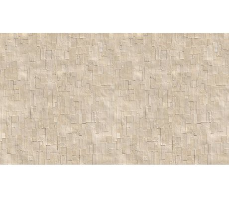 NLXL-Arthur Slenk Wallpaper 'Remixed 1' di carta, crema / bianco, 900x48.7cm