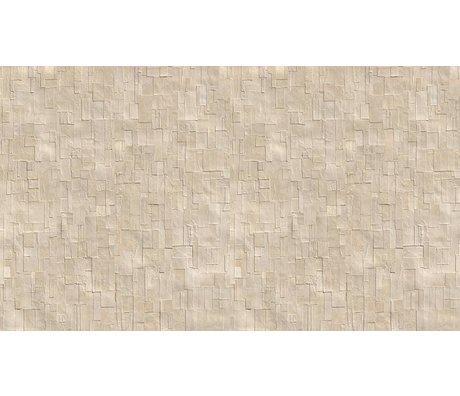 NLXL-Arthur Slenk Wallpaper 'Remixed 1' kağıt, krem / beyaz, 900x48.7cm