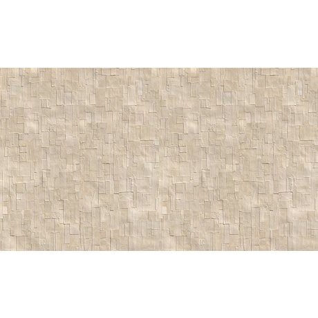 NLXL-Arthur Slenk Wallpaper 'Remixed 1' of paper, cream / white, 900x48.7cm