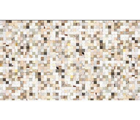 "Piet Hein Eek La carta da parati 'Scrapwood 16 "", bianco / marrone, 900 x 48,7 centimetri"